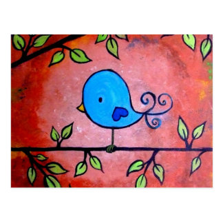 Cartão Postal Pássaro azul oxidado