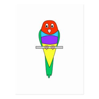 Cartão Postal Pássaro do passarinho do arco-íris. Gouldian.