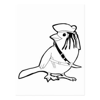 Cartão Postal Pássaro do pirata