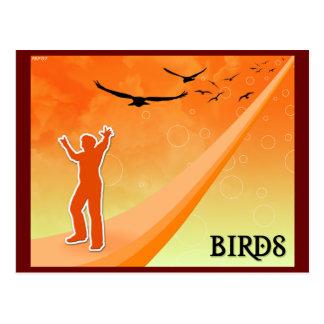 Cartão Postal Pássaros