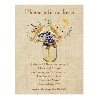 Cartão Postal Pássaros do amor da flor selvagem de frasco de