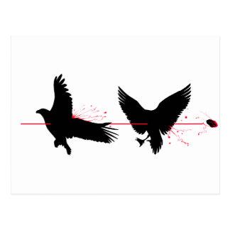 Cartão Postal Pássaros do matar dois com uma pedra