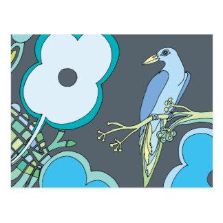 Cartão Postal Pássaros lunáticos (alguma cor que você escolher!)