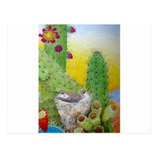 Cartão Postal Pássaros no deserto