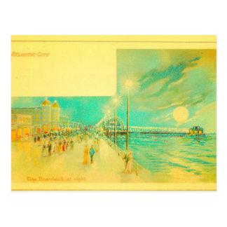 Cartão Postal Passeio à beira mar de Atlantic City