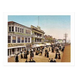 Cartão Postal Passeio à beira mar no vintage 1900 de Atlantic