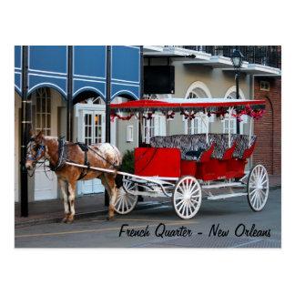 Cartão Postal Passeio da carruagem de Nova Orleães
