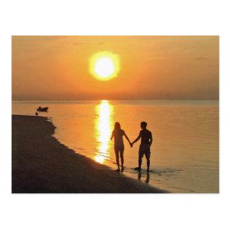 Cartão Postal Passeio na praia