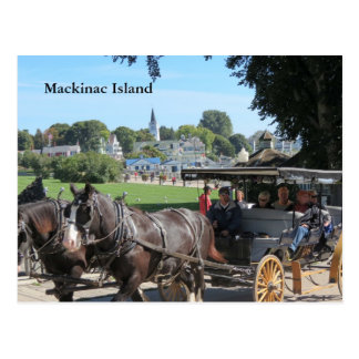Cartão Postal Passeios da carruagem na ilha de Mackinac