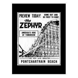 Cartão Postal Passeios na praia de Pontchartrain, Zephyr