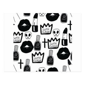 Cartão Postal pastel goth, queen, horror, terror, gothic, femini