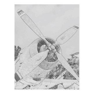 Cartão Postal Pastel-plano