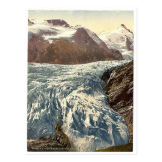 Cartão Postal Pasterzenabsturz e Grossglockner, Carinthia, Aus