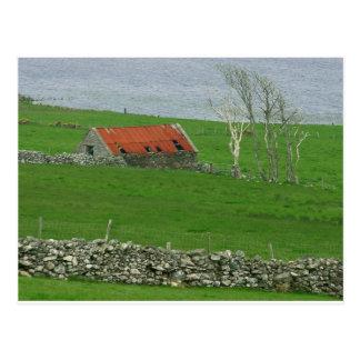 Cartão Postal Pasto atlântico da costa, Ireland
