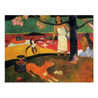 Cartão Postal Pastorale de Paul Gauguin- Tahitian