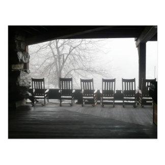 Cartão Postal Patamar da cadeira de balanço com uma vista bonita