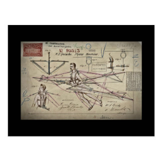 Cartão Postal Patente do planador da máquina de vôo