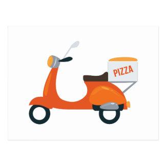 Cartão Postal Patinete da pizza