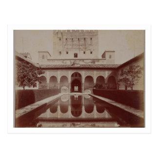 Cartão Postal Pátio de los Arrayanes, Alhambra, c.1875-80 (sepia