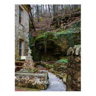 Cartão Postal Pátio do jardim de rocha