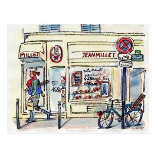 Cartão Postal Patisserie Paris do painço de Jean pela canção de