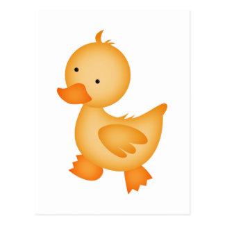Cartão Postal Pato amarelo bonito
