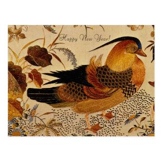 Cartão Postal Pato de mandarino