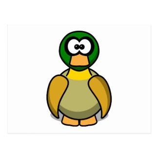 Cartão Postal Pato dos desenhos animados