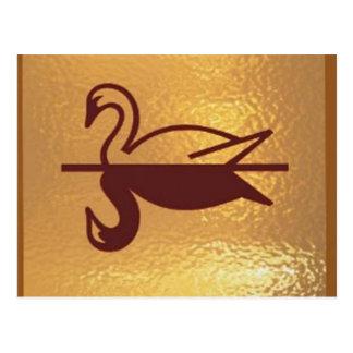 Cartão Postal Pato dourado dos pássaros