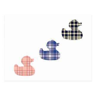 Cartão Postal Patos da xadrez