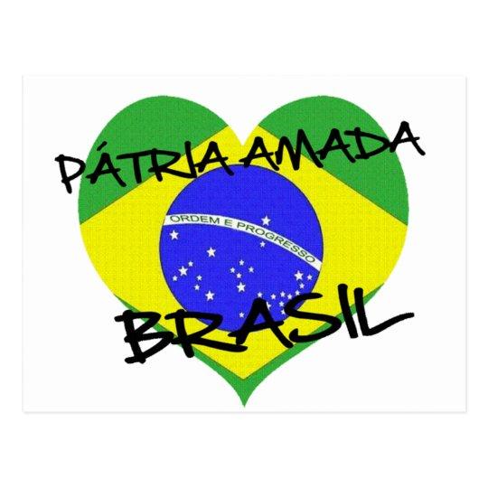 Cartão Postal Pátria Amada Brasil