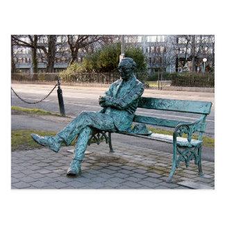 Cartão Postal Patrick Kavenagh - escultura irlandesa do poeta