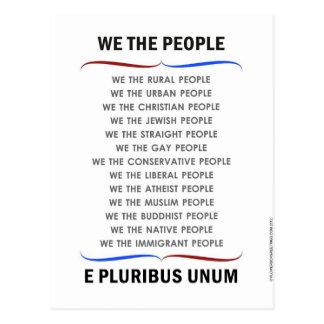 Cartão Postal Patriótico nós as pessoas americanas