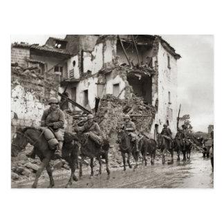 Cartão Postal Patrulha    aliada segunda guerra mundial, Anzio