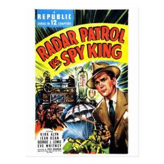 Cartão Postal Patrulha do radar contra o rei do espião