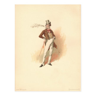 Cartão Postal Pau Swiveller do vintage a loja velha da