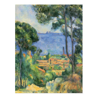 Cartão Postal Paul Cezanne - ideia do d'If de L'Estaque e de