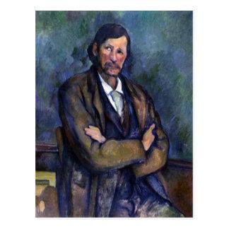 Cartão Postal Paul Cezanne - retrato de auto