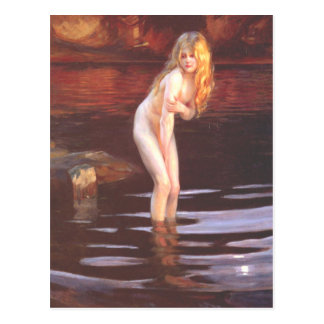 Cartão Postal Paul Émile Chabas - Baigneuse (Bather)