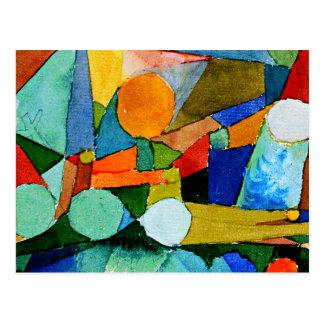 Cartão Postal Paul Klee: A cor dá forma à arte abstracta