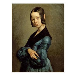 Cartão Postal Pauline Ono no azul, 1841-42