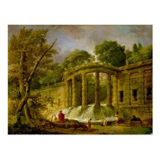 Cartão Postal Pavilhão com cascata, 1760