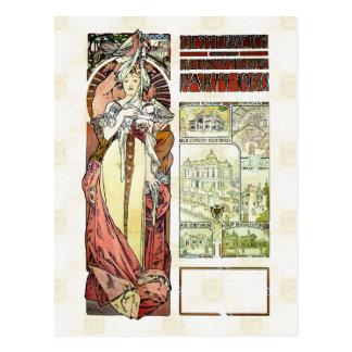 Cartão Postal Pavilhão do austríaco de Alfons Mucha 1900