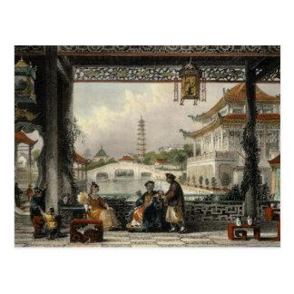 Cartão Postal Pavilhão e jardins de um mandarino perto de