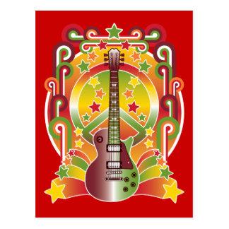 Cartão Postal Paz da estrela do rock