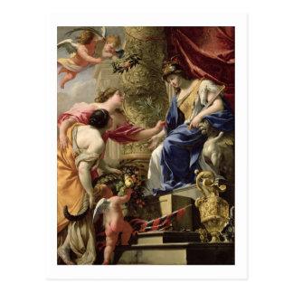 Cartão Postal Paz da prudência e abundância principais, c.1645