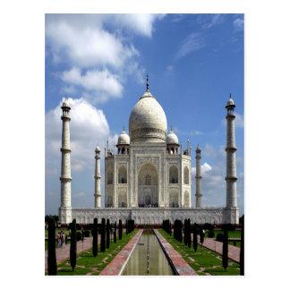 Cartão Postal Paz e alegria de Taj Mahal Agra India