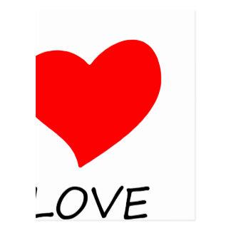 Cartão Postal paz love22