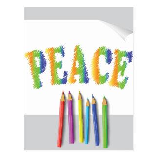 Cartão Postal paz pintada
