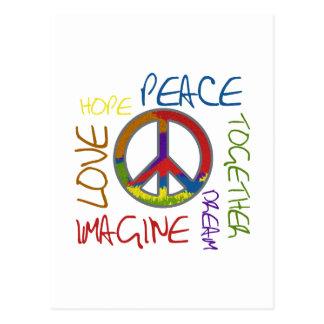 Cartão Postal Paz retro